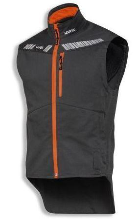 uvex metal leichte Funktionsweste anthrazit//schwarz//orange B-Ware