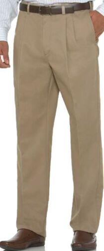 Big /& Tall Expandable Waist Pleated Casual Pants Savane Ultimate Waist 36-60