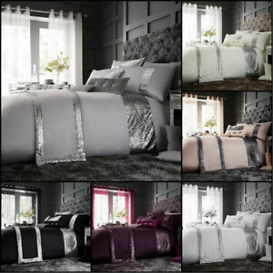 Signature-Glamour-Housse-Couette-Ensemble-De-Literie-double-King-Size-Quilt-Cover-Set