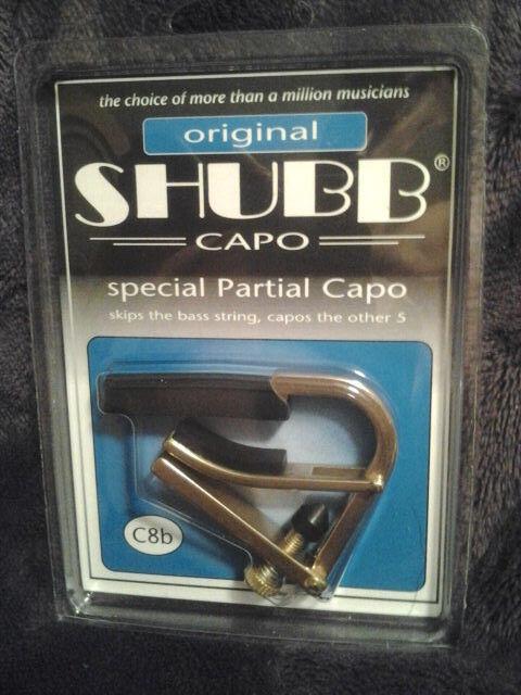Free Shipping Brass New Shubb C7B Partial Guitar Capo Covers Three Strings