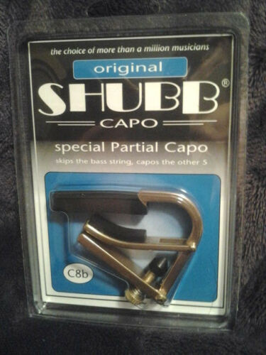 Brass NIB Free Shipping String Partial Guitar Capo Shubb C8B Brass 5