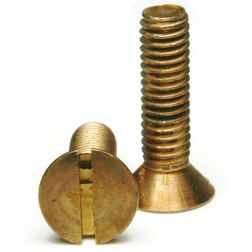 6//32x1 QTY 25 Silicon Bronze Slotted Machine Screw