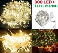 300 LED ORO, luce dorata,albero Natale,cavo trasparente.Luci Natalizie serie