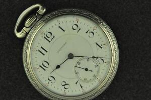 VINTAGE-18S-WALTHAM-21J-VANGUARD-POCKET-WATCH-DIAMOND-ENDSTONE-FROM-1901
