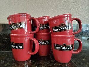 Bodum Peets Coffee /& Tea Mug Brown Stoneware Pottery Vintage