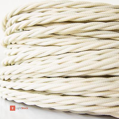 Textilkabel verseilt Elfenbein 3x0.75 mm² aus europäischer Produktion