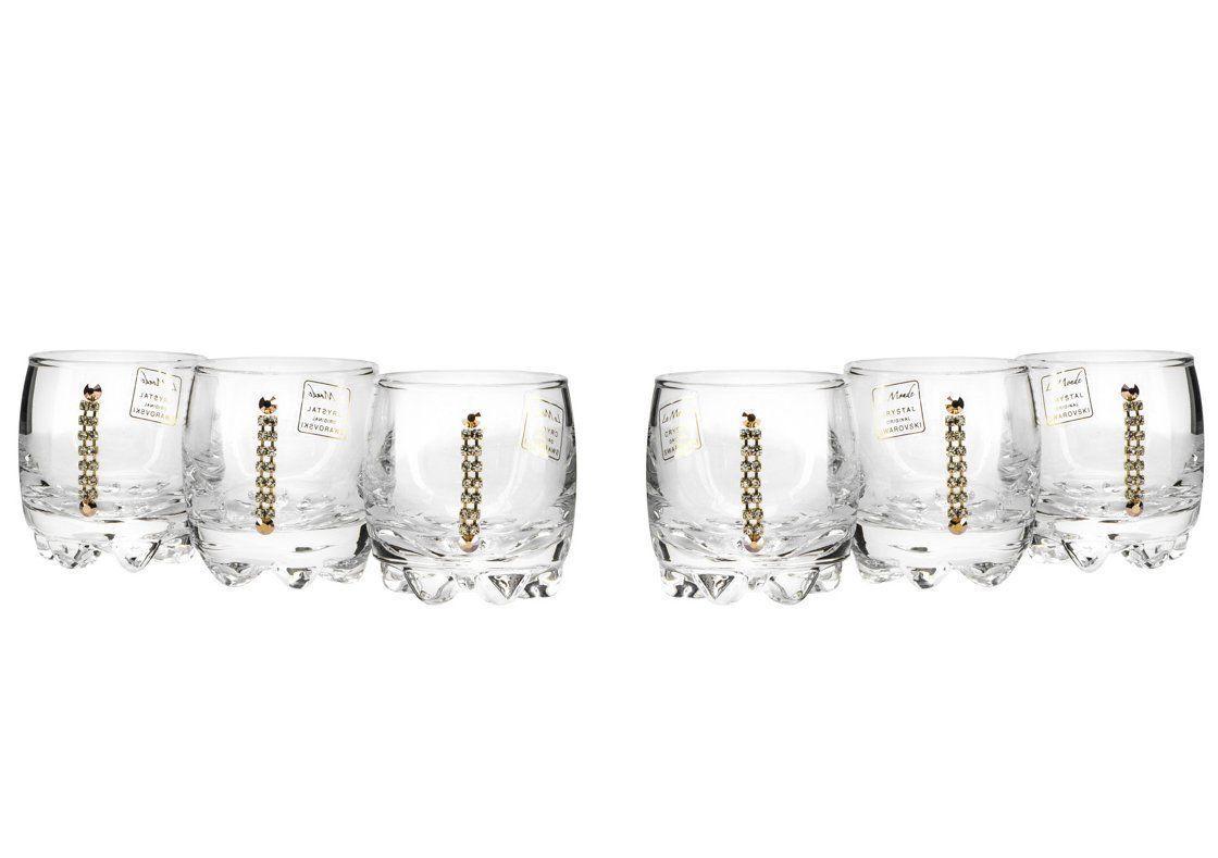 Le Monde Cadeaux, Swarovski Jeweled cristal vodka verres à liqueur, 6-Piece Set