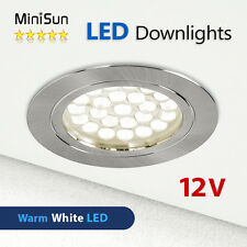 minisun 12v led recessed downlight spotlights caravan motor home