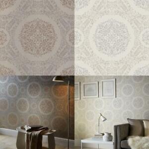 Arthouse-Timour-Damask-Pattern-Floral-Motif-Metallic-Glitter-Wallpaper-2-Colours