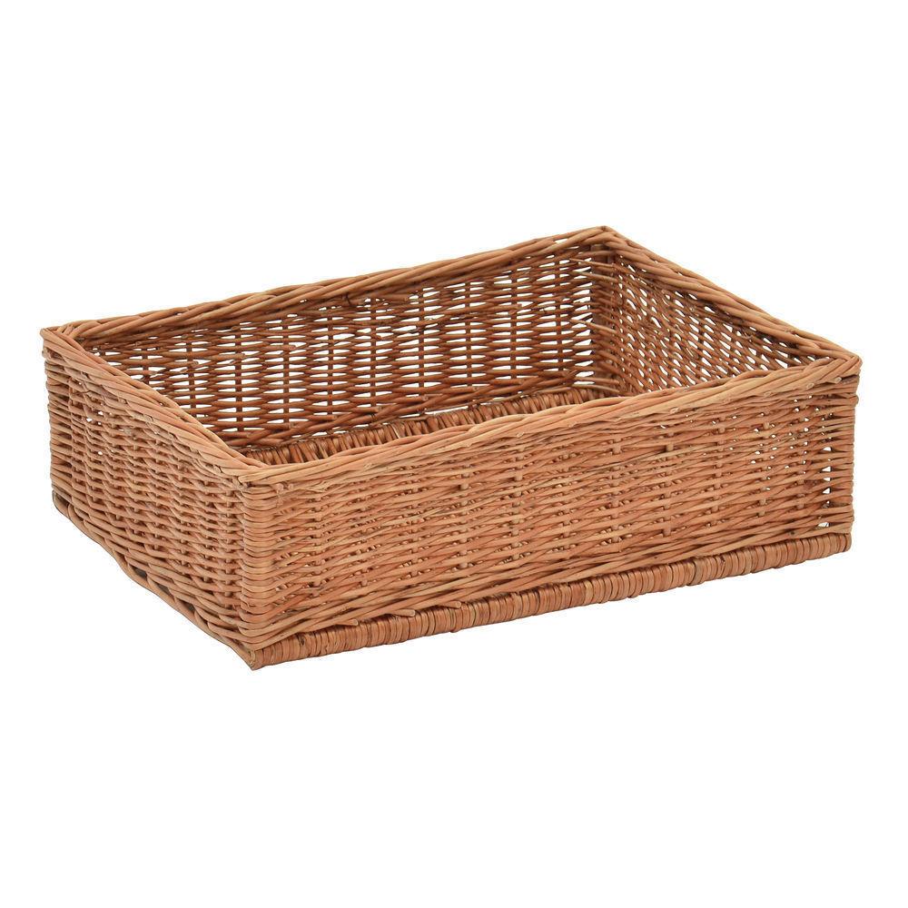 Rectangular Natural Willow Basket - 23 L x 15 W x 6 H