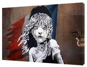 Baksy Français Les Misérables Photopicture Imprimer Sur Encadrée Toile Wall Art-afficher Le Titre D'origine Pour Assurer Des AnnéEs De Service Sans ProblèMe