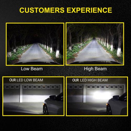 New 9006 LED Car Headlight 4-Sided Bulbs 1800W 255000LM Low Beam Headlamps Pair