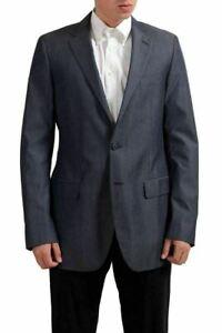 Gianfranco-Ferre-Wool-Gray-Two-Buttons-Men-039-s-Blazer-US-44-IT-54