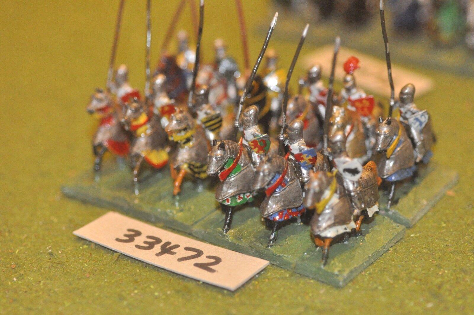 25mm mittelalterlichen   englisch - soldaten 12 zahlen - cav (33472)