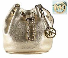 Michael Kors Frankie Small Gold Drawstring Crossbody Shoulder Bag 32h4mfkc5m NWT