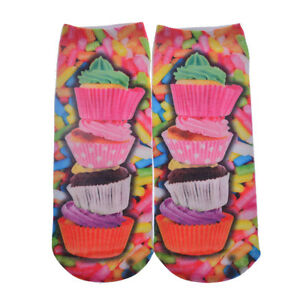 '2017-Women-amp-Men-3D-Printed-Color-Multilayer-cake-Harajuku-Low-Cut-Ankle-Socks' from the web at 'https://i.ebayimg.com/images/g/oOYAAOSw~oFXHo6F/s-l300.jpg'