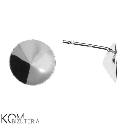 1 paire Silver Stud Boucle d/'oreille pour rivoli 1122 10 mm cristaux KH 8