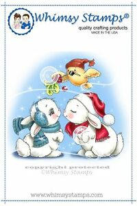 Whimsy-Stamps-Cling-Mounted-Rubber-Stamp-Christmas-Bunny-Kisses