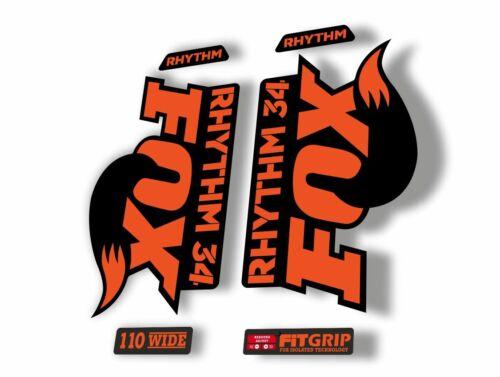 FOX 34 Rhythm 2018 Forks Suspension Factory Decal Sticker Adhesive Orange