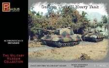 Pegasus 7627 WWII German Tiger II Tank Set of 2 1/72 Scale Plastic Model Kits