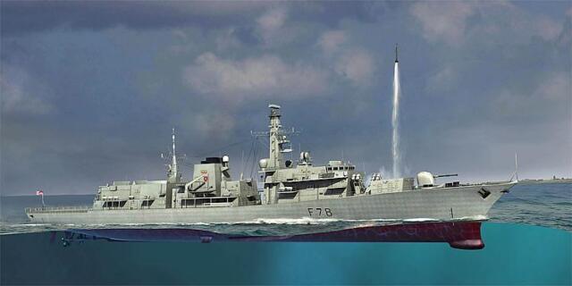TRUMPETER® 04544 HMS TYPE 23 Frigate - Kent (F78) in 1:350