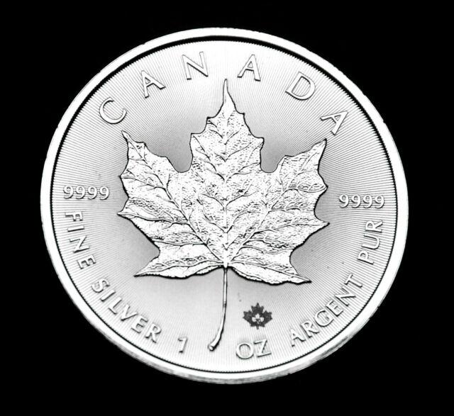 2020 $5 Canada Maple Leaf 1oz Fine .9999 Silver - one of the purest silver BU