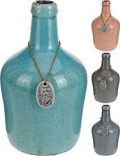 Vintage Style Distressed Crackle Glaze Ceramic Vase Interior Design Display Vase
