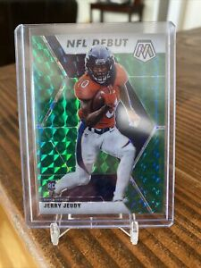 2020-Panini-Mosaic-JERRY-JEUDY-Green-Mosaic-Rookie-Debut-Card-Broncos-RC-267