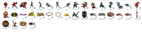 11 Formats CD//USB//Floppy Super Heroes Embroidery Designs 2-36 Designs