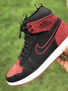 sale retailer bd9d6 a2165 Details about Nike Air Jordan 1 Ultra High Retro 9 Bred Banned Black Red  Flyknit 844700-001