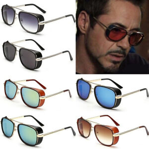 31ccac19ba Iron Man 3 Robert Downey TONY Sunglasses Red Lens STARK Personalized ...