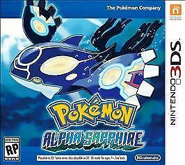 Pokemon: Alpha Sapphire (Nintendo 3DS, 2014) CASE AND MANUAL ONLY - NO GAME