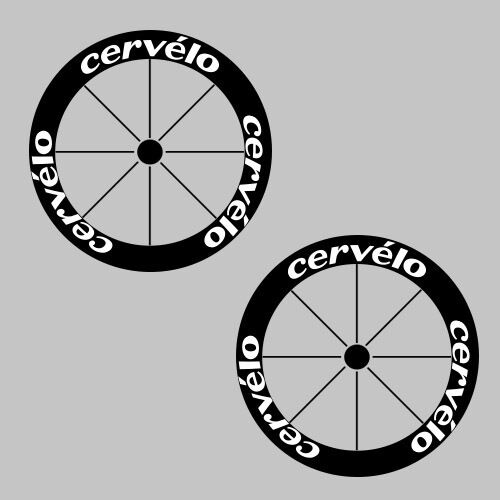 CERVELO CARBONE profonde jante moto / vélo / cycle cycle cycle ROUE DECAL AUTOCOLLANT Kit eb5959