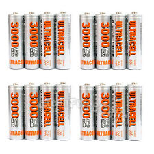 16 pcs AA 2A LR06 HR6 3000mAh 1.2V Ni-MH Rechargeable Battery UltraCell US Stock