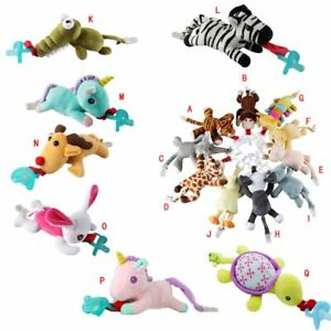 Infant-Baby-Pacifier-Holder-Hanging-Removable-Plush-Kids-Animal-Doll-Toy-Soother