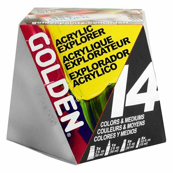 Golden A Z Heavy Body Acrylic Paint Starter Set Gldstart 738797009622