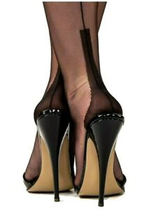 GIO Cuban Heel Fully Fashioned Stockings - Bi-Color Full