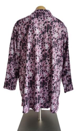 Neuf Grande Taille Femmes Stretch Chemisier Avec Amovible Chaîne Violet Noir Taille 60,62