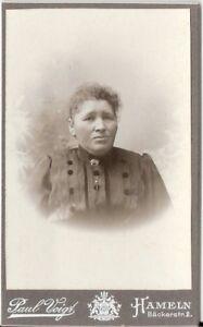 CDV-Foto-Damenportrait-Hameln-1900er