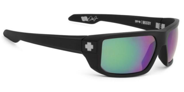 8eff846822a1e Spy Optics McCoy Matte Black Happy Polarized Green 673012374861 Sunglasses