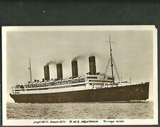 Pre 1920 Unused real photo postcard r.m.s. aquitania ship