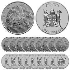 2013 1 oz Silver New Zealand $2 Fiji Taku Coins (.999 BU, Lot, Roll, Tube of 20)