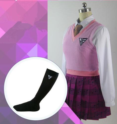 Danganronpa V3 Akamatsu kaede Cosplay Kostüm costume Kleid Lolita Schul Uniform