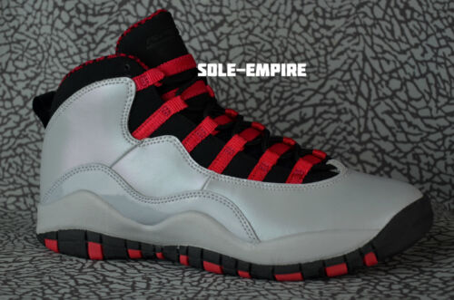 Girls Nike Air Jordan 10 Retro X GS 487211-009 Wolf Grey Black Legion Red DS Kid