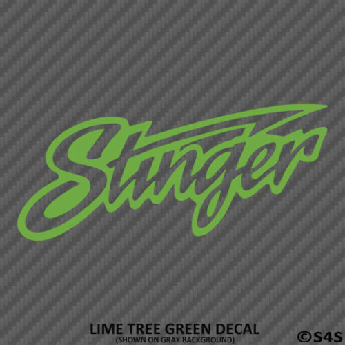 Choose Color//Size Stinger Audio Car Stereo Boat Electronics Vinyl Decal Sticker