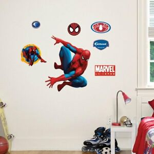Image Is Loading Spiderman Fathead Wall Decals Amazing Spider Man Room