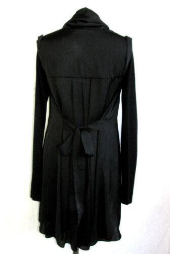 Step Black Ambiance 38 One Dress Long M eccellenti Condizioni M Size Wool 714Sqdw
