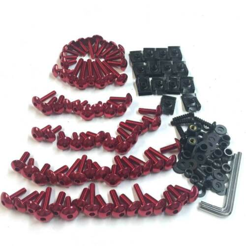 Red Fairing Screw GSX1300R Kit For Suzuki windscreen Bolt GSXR750 Universal