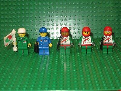 Lego Racer Car Driver Octan People Racing Random Town City Minifigures Lot of 5