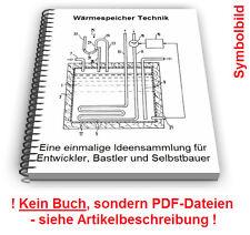 Wärmespeicher selbst bauen - Wärmespeicherung Wärme speichern Technik Patente